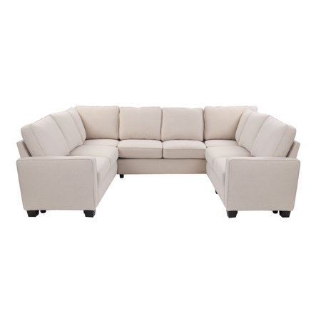 Better Homes Gardens Gramercy U Configuration Sectional With 3 73 Inch Sofas And 2 Corner Connectors Size 73 Inch Brown Love Seat Better Homes Room Color Schemes