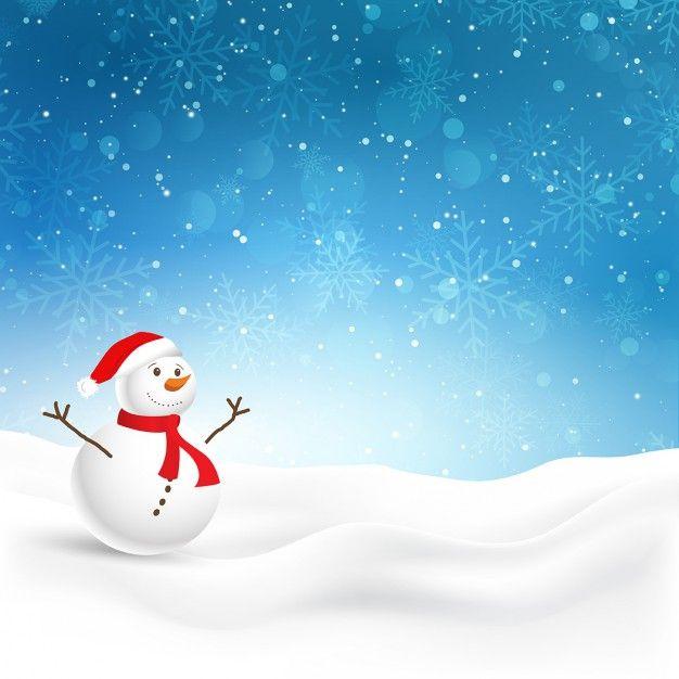 Skachivajte Rozhdestvenskaya Otkrytka S Miloj Snegovika V Snegu Besplatno Christmas Background Merry Christmas Card Greetings Beautiful Christmas Cards Merry christmas snow background hd