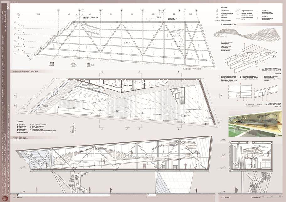 Progettazione Di Un Edificio Espositivo Con Struttura Reticolare A Ponte In Zona Sismica - Picture gallery