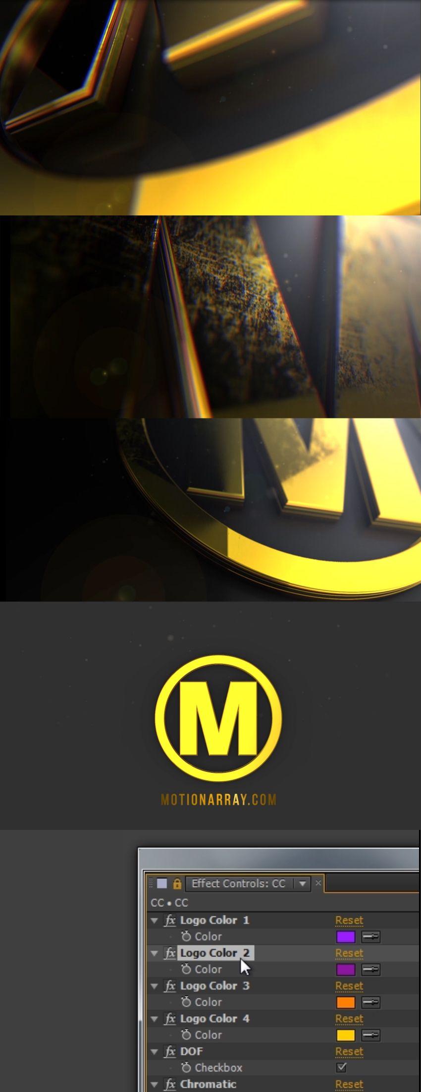 Element 3D logo reveal e3d logo reveal motion design videohive ...