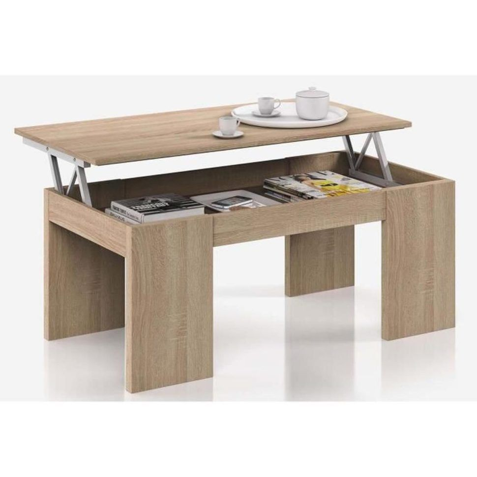 Table Basse Relevable En 2020 Table Basse Salon Table Basse Table Basse Relevable