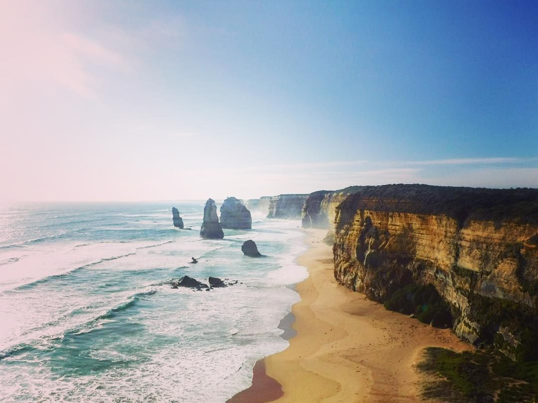 What is left of the Twelve Apostles.  #twelveapostles #geologyrocks #greatoceanroad #erosion #iconic #bucketlist  #stacks #limestonecliffs #waves #southernaustralia #beautiful #sososohappy #beachlife by brooksty1990