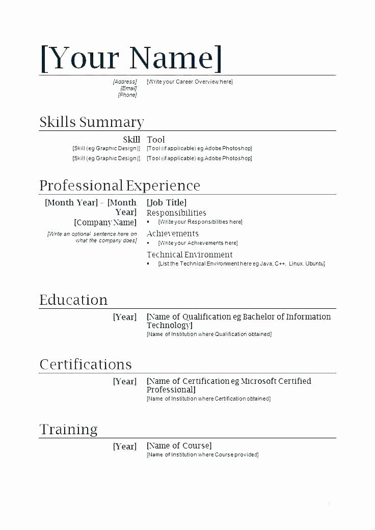 First Job Resume Template Inspirational Resume Samples for