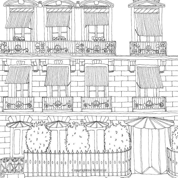 secret paris color your way to calm google search - Paris Coloring Book