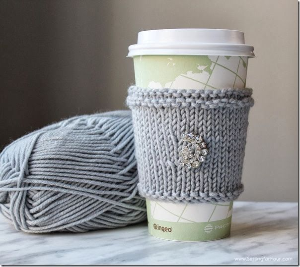 Diy Extra Soft Knitted Cup Cozy Great Gift Idea Tutorials Knit