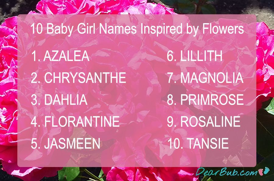 10 Baby Names For Girls Inspired By Flowers Baby Name Babynames