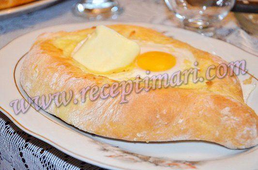 Аджарские хачапури в форме лодочки с яйцом. Как готовить ...