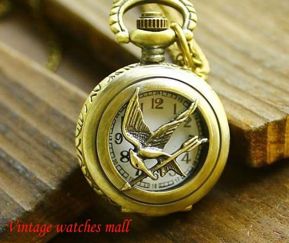 Large hungry bird mock pocket watch fashion by Vintagewatchesmall, $8.25