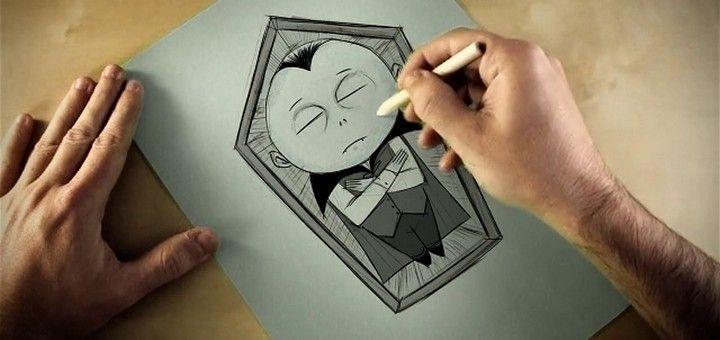 Billetes: El cortometraje Vampire Bash de António Silva cuenta la historia de la breve vida de un pequeño vampiro dibujado.