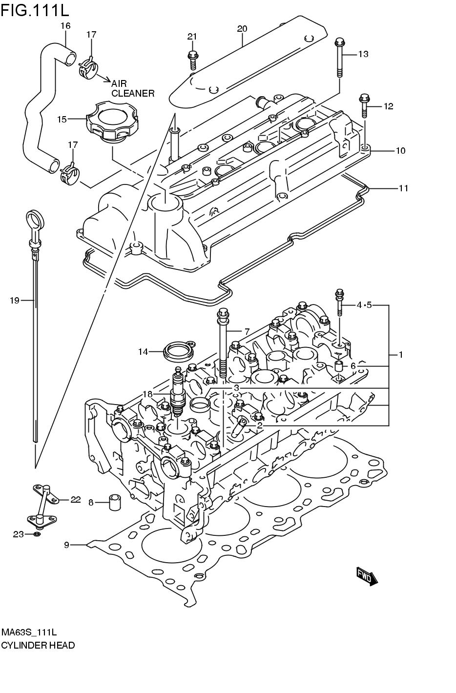 SUZUKI WAGON R WIDE MA63S MA63S 1 ENGINE-FUEL-SYSTEM 111