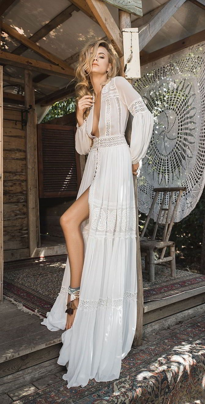 Inbal raviv wedding dresses white gypsy collection wedding