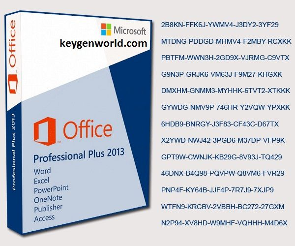 office 2013 professional plus key activation