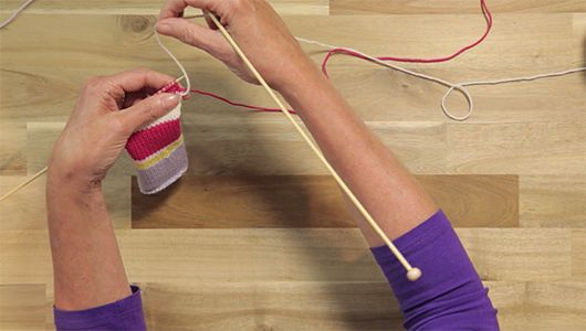 Knitting With Different Colours Is Fun The Simplest Way To