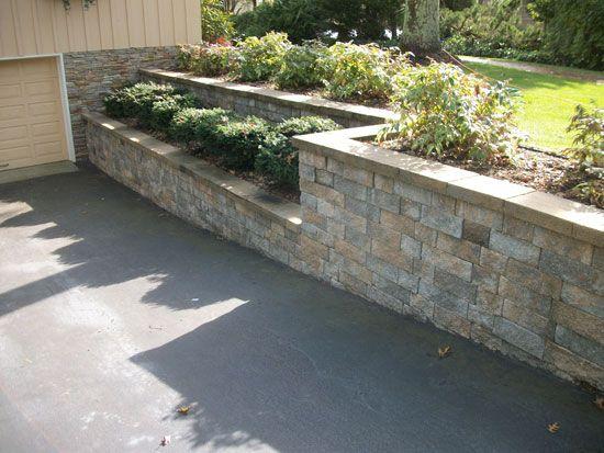 Retaining Walls Landscape Walls Stone Block Walls Mason