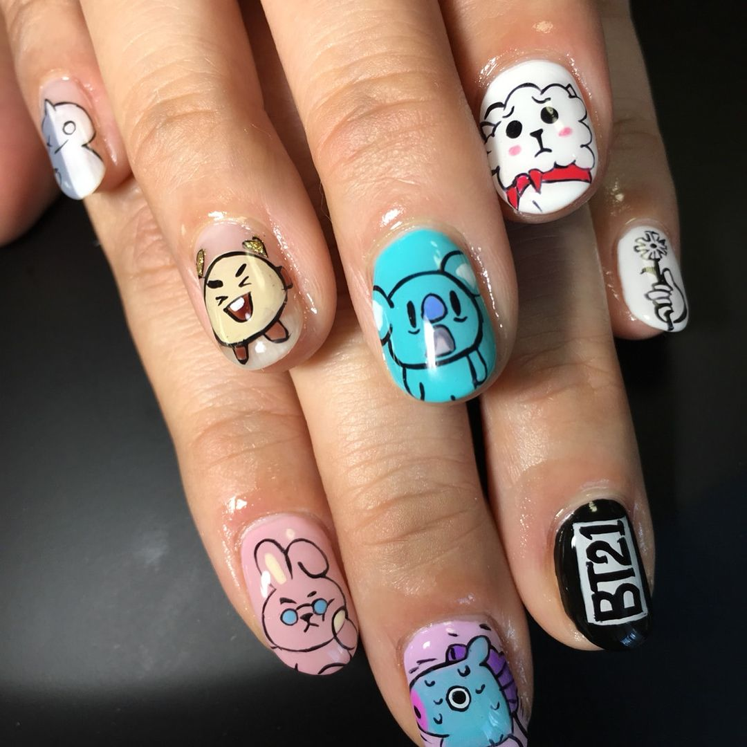 0 bt21 # bt21nail # bt21nails # bt21nailart # ___ ___ ___ ___ ___ 0 ...