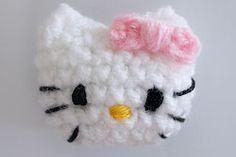 Hello kitty applique free crochet pattern chart applique