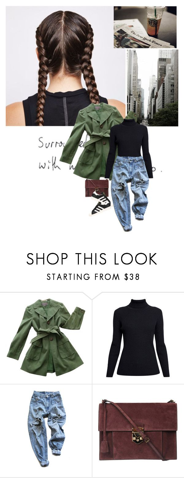 """Untitled#322"" by galina-lina ❤ liked on Polyvore featuring Ann Taylor, Rumour London, Levi's, Rochas and adidas"