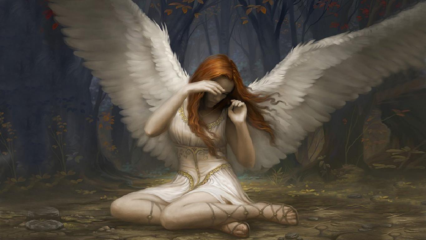 fantasy art angel sad - photo #9