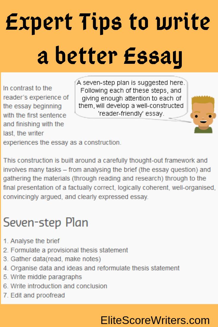 Expert Tip To Write A Better Essay Good Best Writing Service