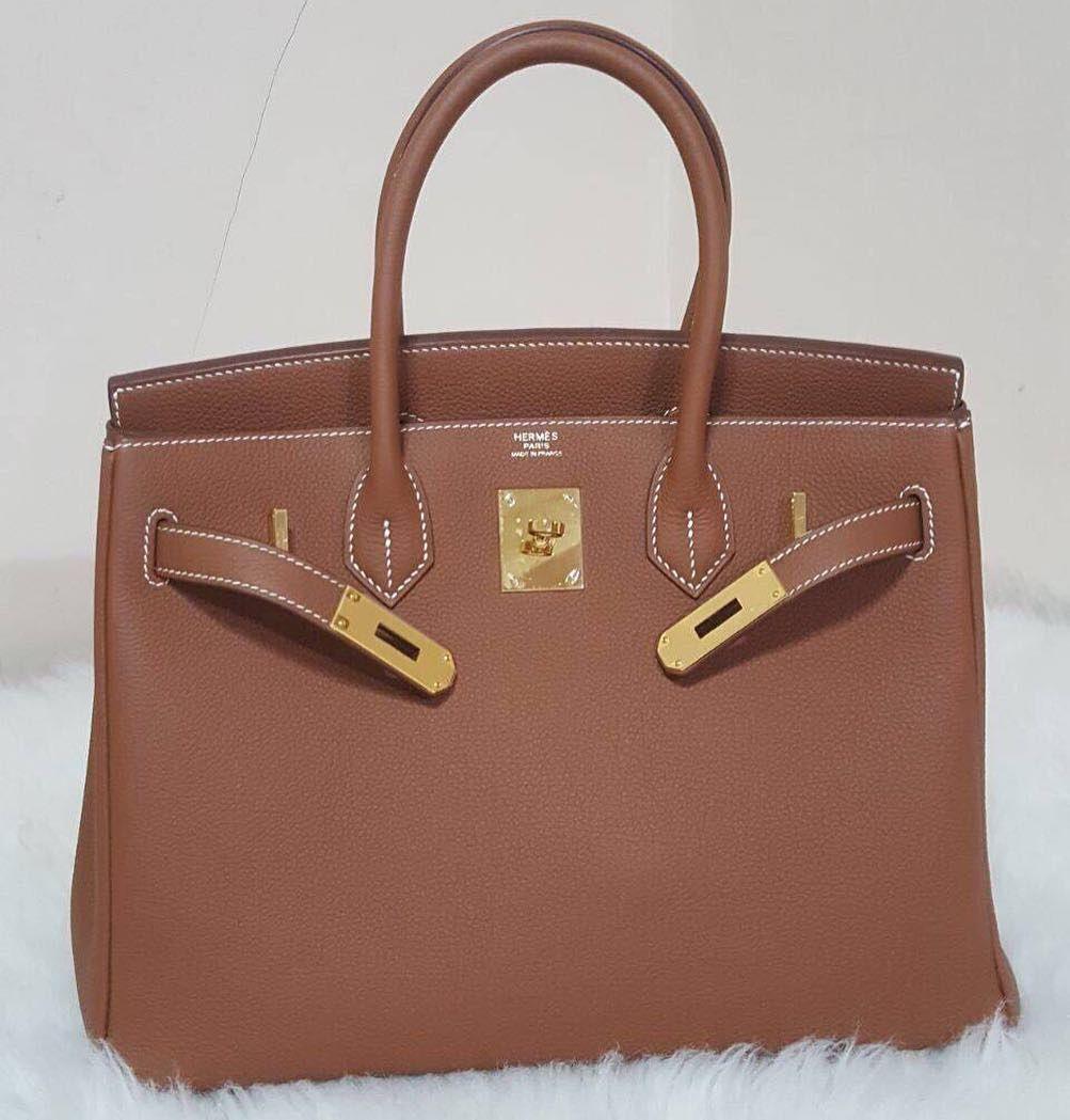 4a6350577ae Birkin30 Gold Togo Ghw R Hermes Birkin, Luxe, Hand Bags, Style Fashion,