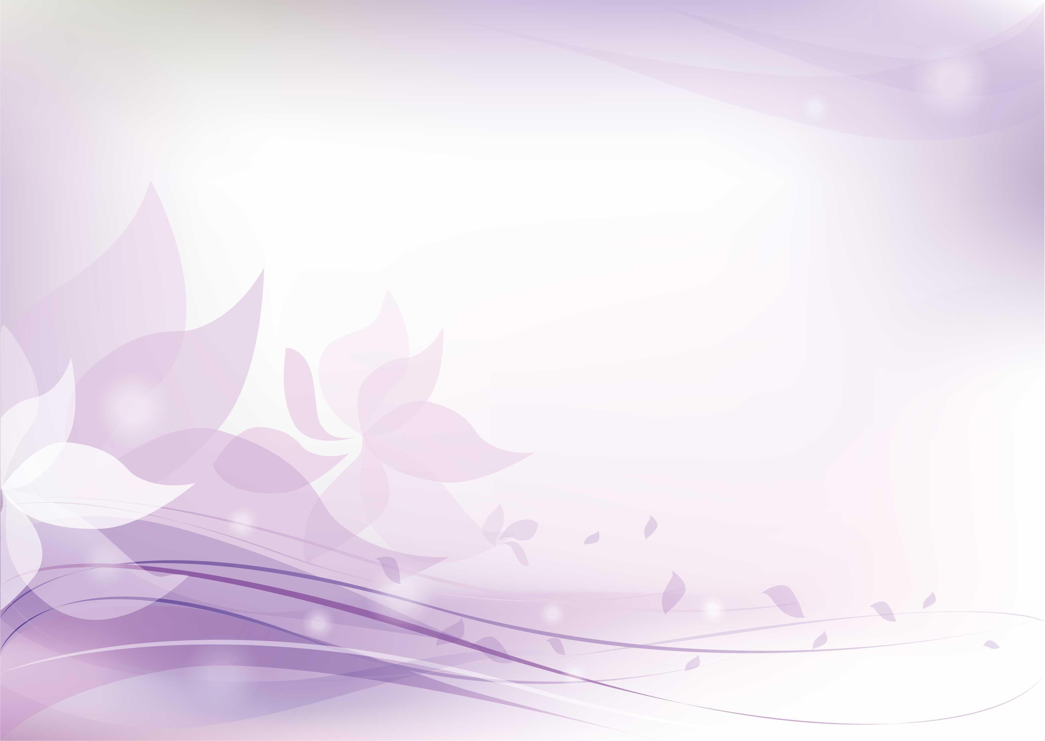 花の背景 壁紙イラスト 紫 花びら 淡い光彩 綺麗なイラスト壁紙