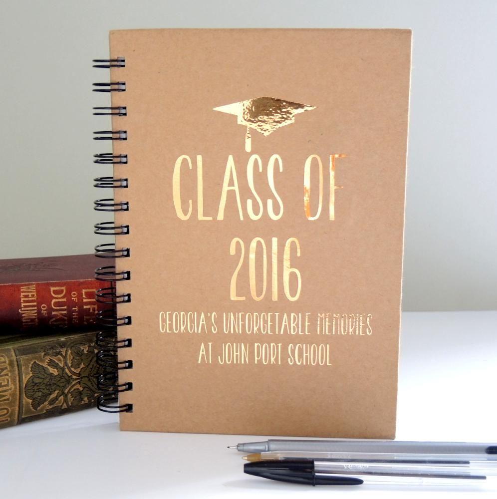 Personalised Scrapbook School College Work Leavers