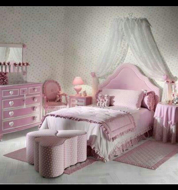 Girlie bedroom Chambres jeunes Pinterest Bedrooms, Room and Shabby