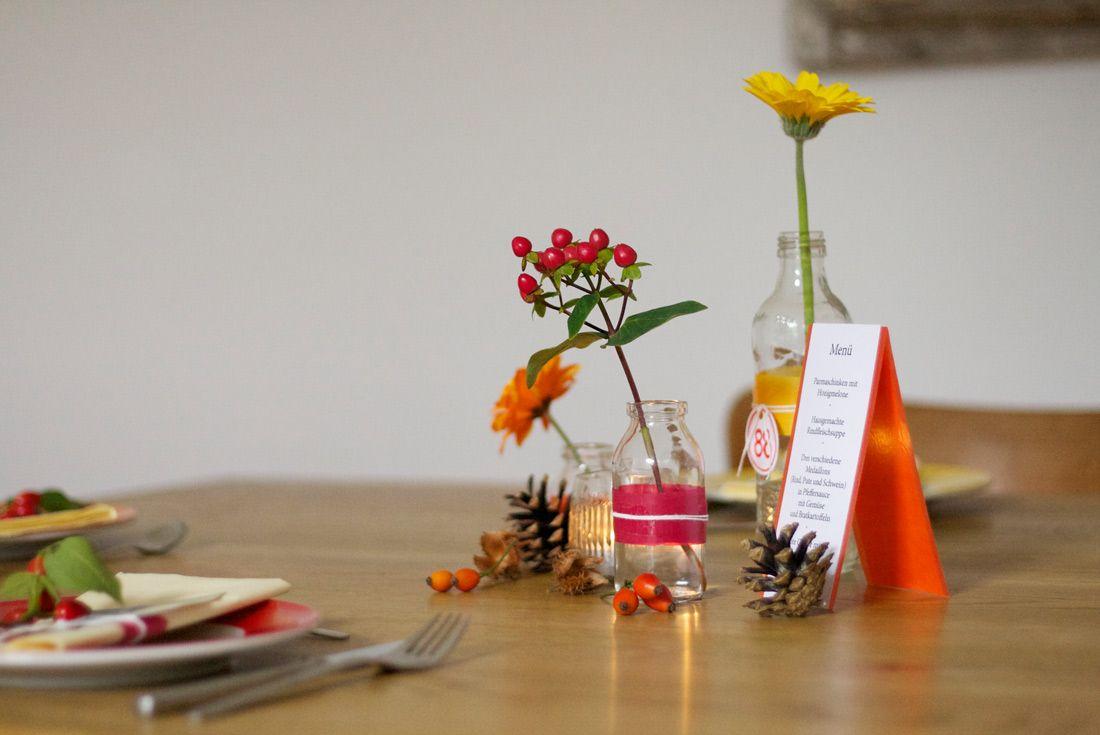 Schnelle Tischdeko Zum 88 Geburtstag In Herbstlichen Farben