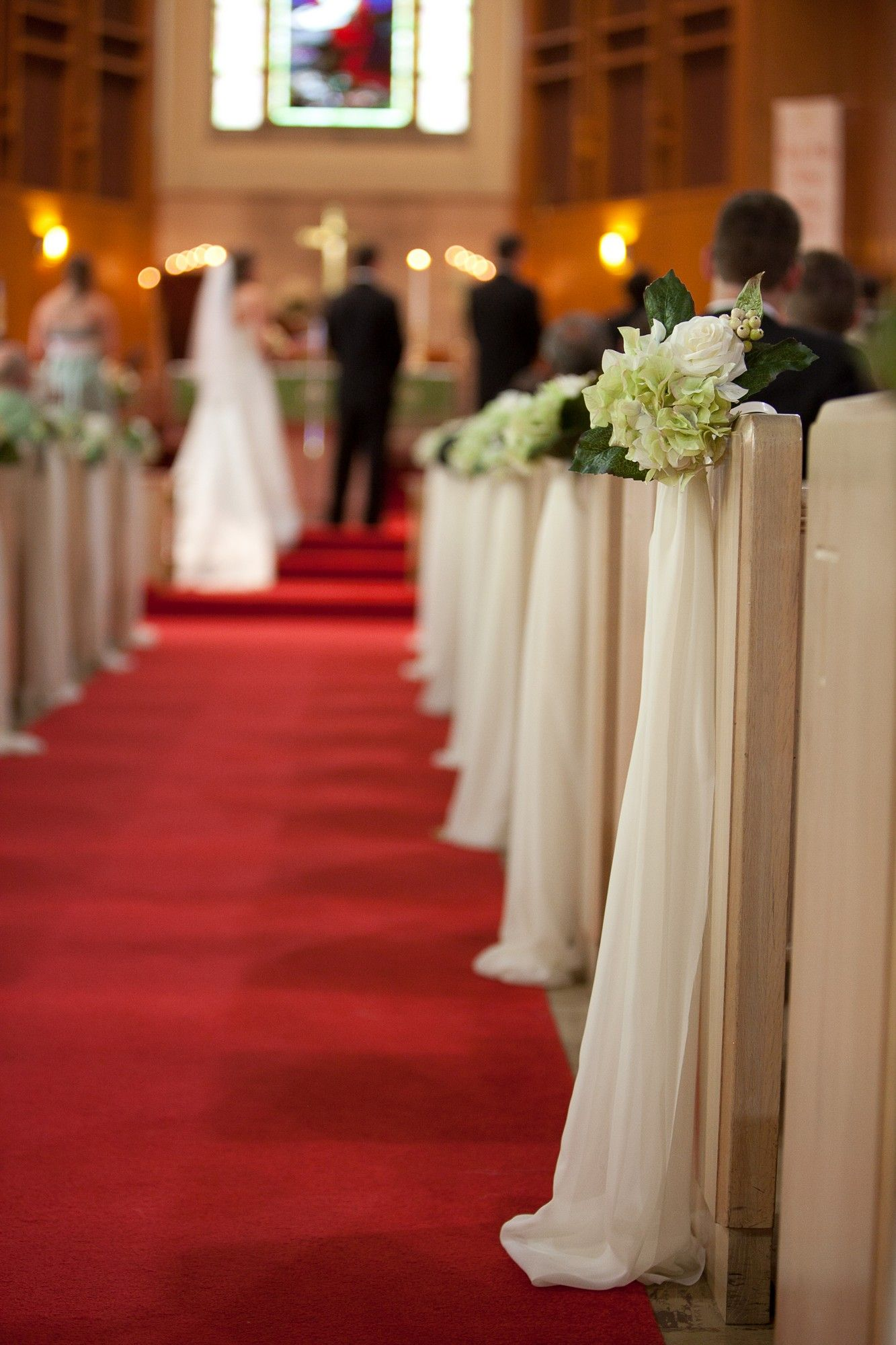 Church Wedding Decorations Simple Pew