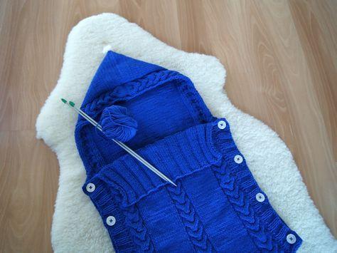 kuscheliger schlafsack f r babys freebook stricken baby stricken schlafsack und schlafsack. Black Bedroom Furniture Sets. Home Design Ideas