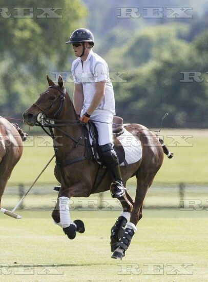 Audi Polo Challenge, Coworth Park, Ascot, Britain - 30 May 2015  Prince Harry and Jack Mann  30 May 2015