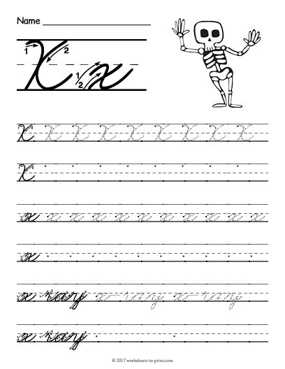 free printable cursive x worksheet cursive writing worksheets pinterest cursive. Black Bedroom Furniture Sets. Home Design Ideas