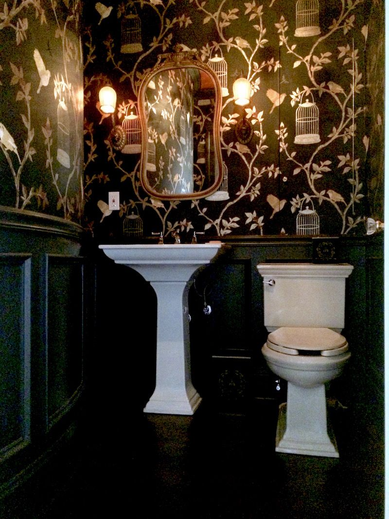 A Very Blah Powder Room Transforms Into A Jewel Box Ba O Y  # Muebles Sanitarios Kohler