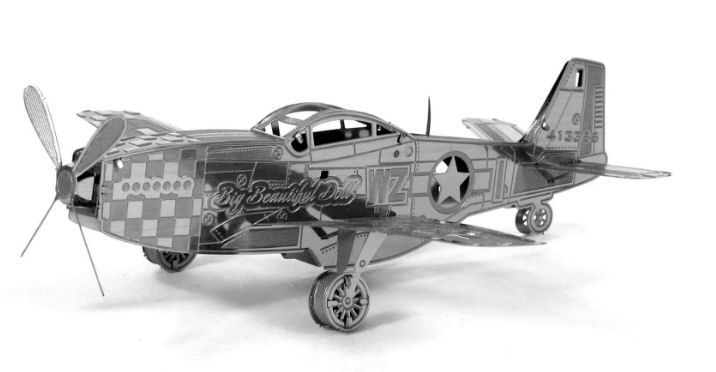 Fascinations Metal Earth P-51 Mustang 3D Miniature Steel Fighter Aircraft Model