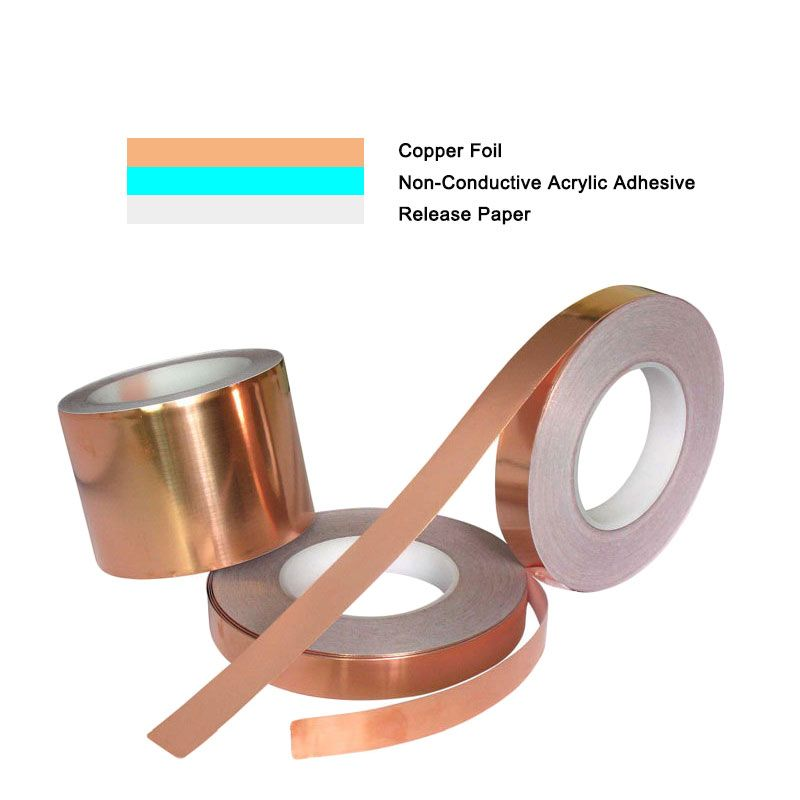 Yuanjinghe Copper Foil Shielding Tape For Soldering Guitar Antenna Slugs Pcb Circuits 9 Years Experiences In Manufac Copper Foil Tape Copper Foil Copper Tape
