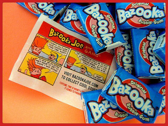 Bazooka gum and the awesome Bazooka Joe comics that came with em!