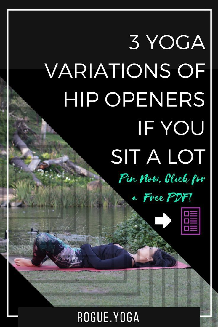 Pin now! Click a free PDF of yoga poses for the hips! What are we actually doing in hip openers? Lea...