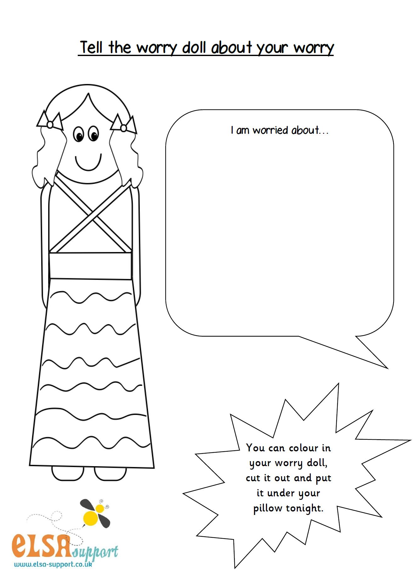 worksheet Anxiety Worksheet worry doll worksheet emotional intelligence pinterest worksheet