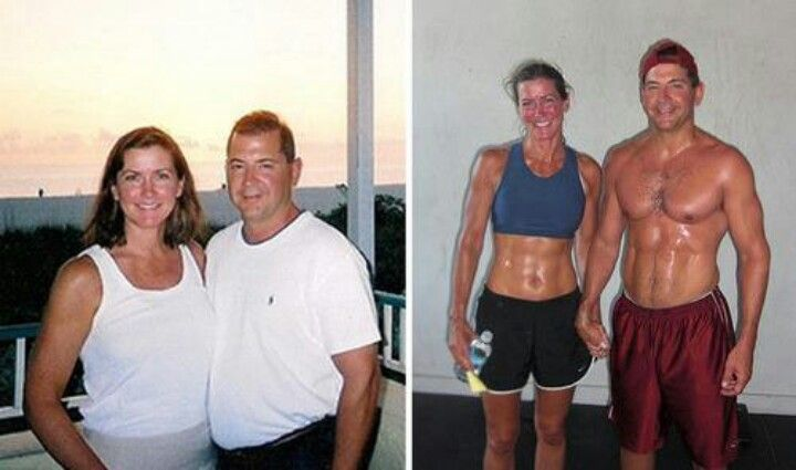 Transformation Motivation Before  After Weight Loss Fitness Couple