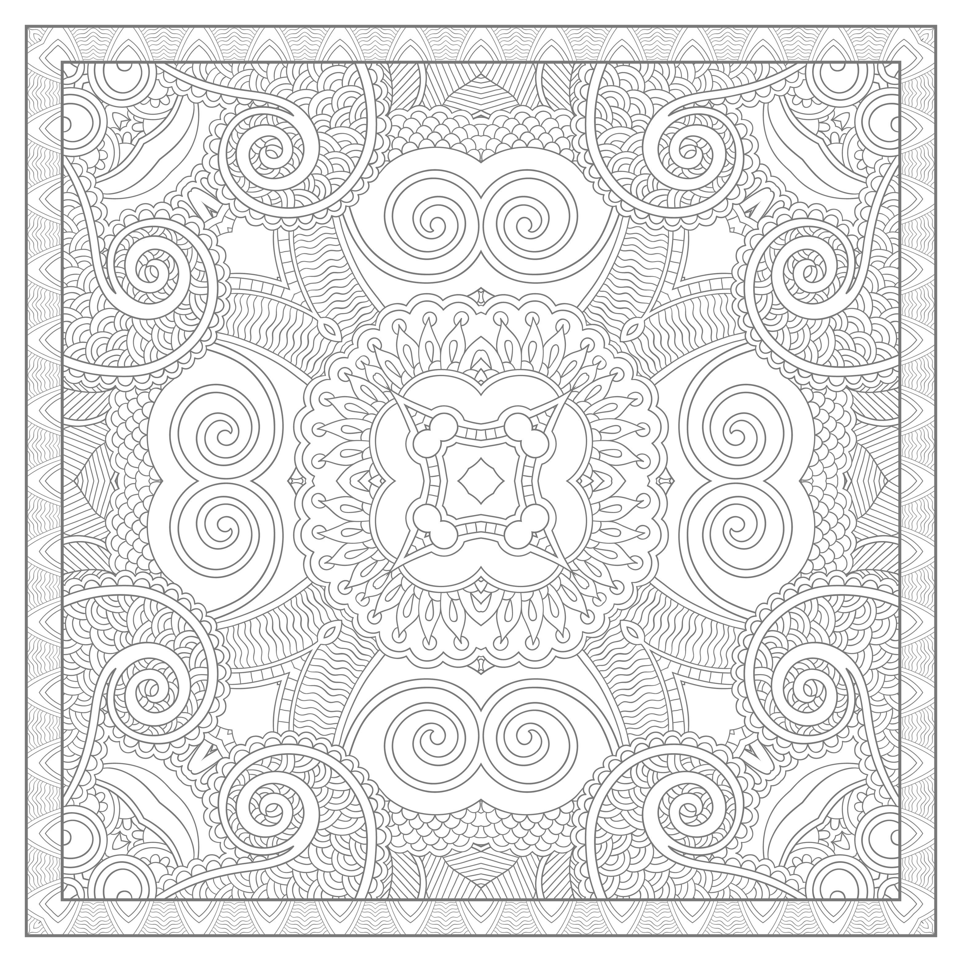 Pour imprimer ce coloriage gratuit coloriage mandala carre par karakotsya 4 cliquez sur l - Mandala a imprimer gratuit difficile ...