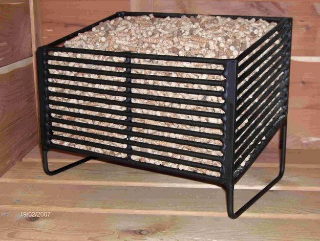 Pellet basket, to burn pellets in a log burning stove ...