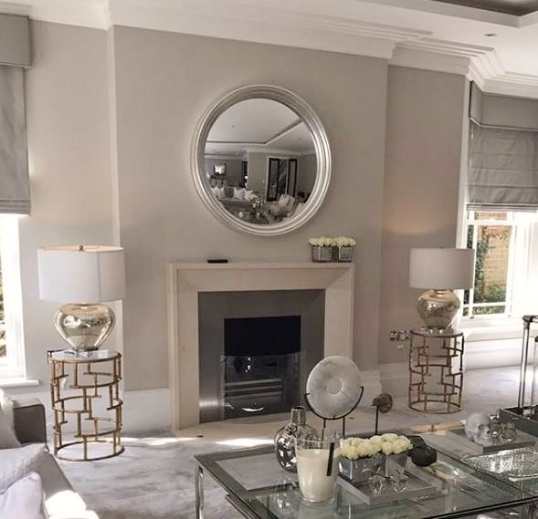 Decorative Mirrors For Above Fireplace.Convex And Round Mirrors Over A Fireplace Top Tips