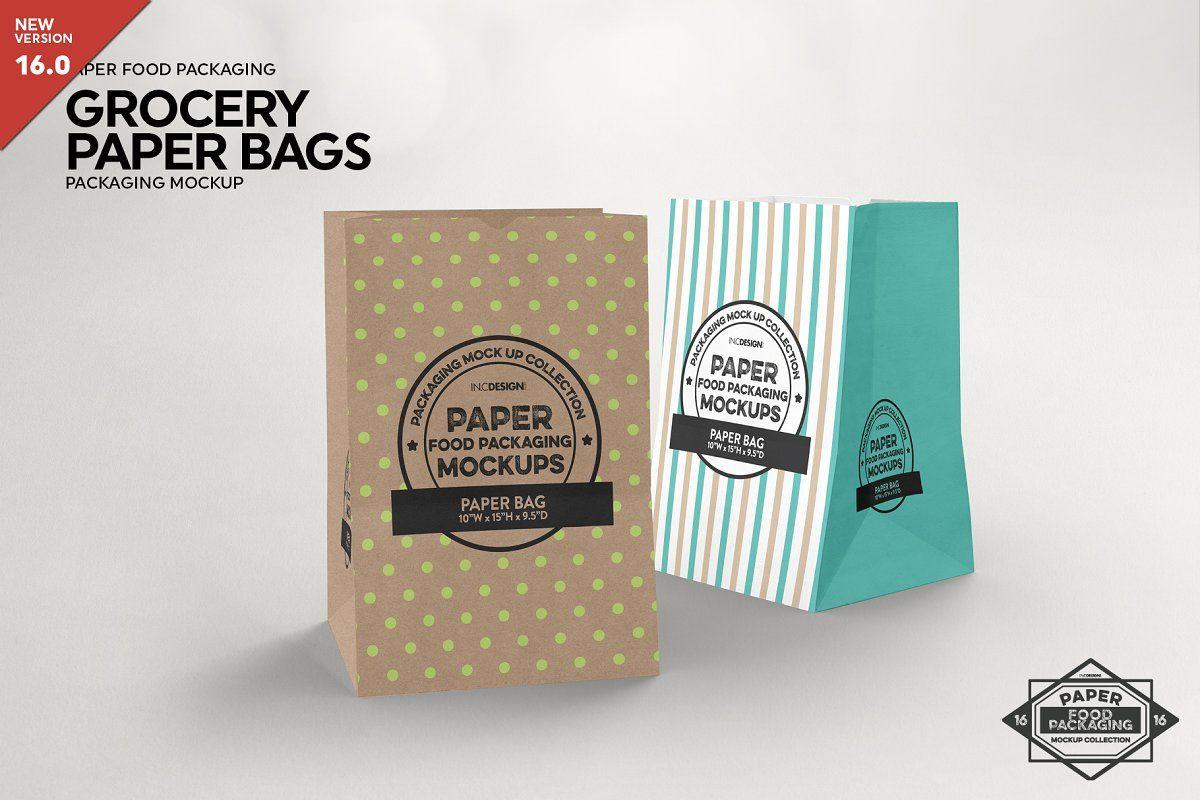 Download Paper Grocery Bags Packaging Mockup Packaging Mockup Food Box Packaging Free Packaging Mockup