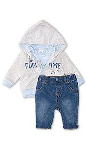 Из трех частей ребенка дебют снаряжение в синий / серый