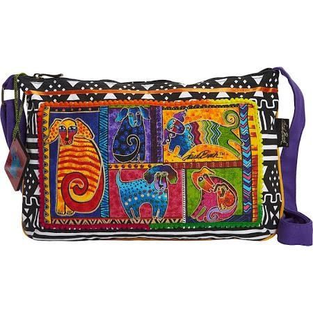 Laurel Burch Dog Tails Patchwork Crossbody - Dog Tails Patchwork - Crossbody Bags - Brought to you by Avarsha.com