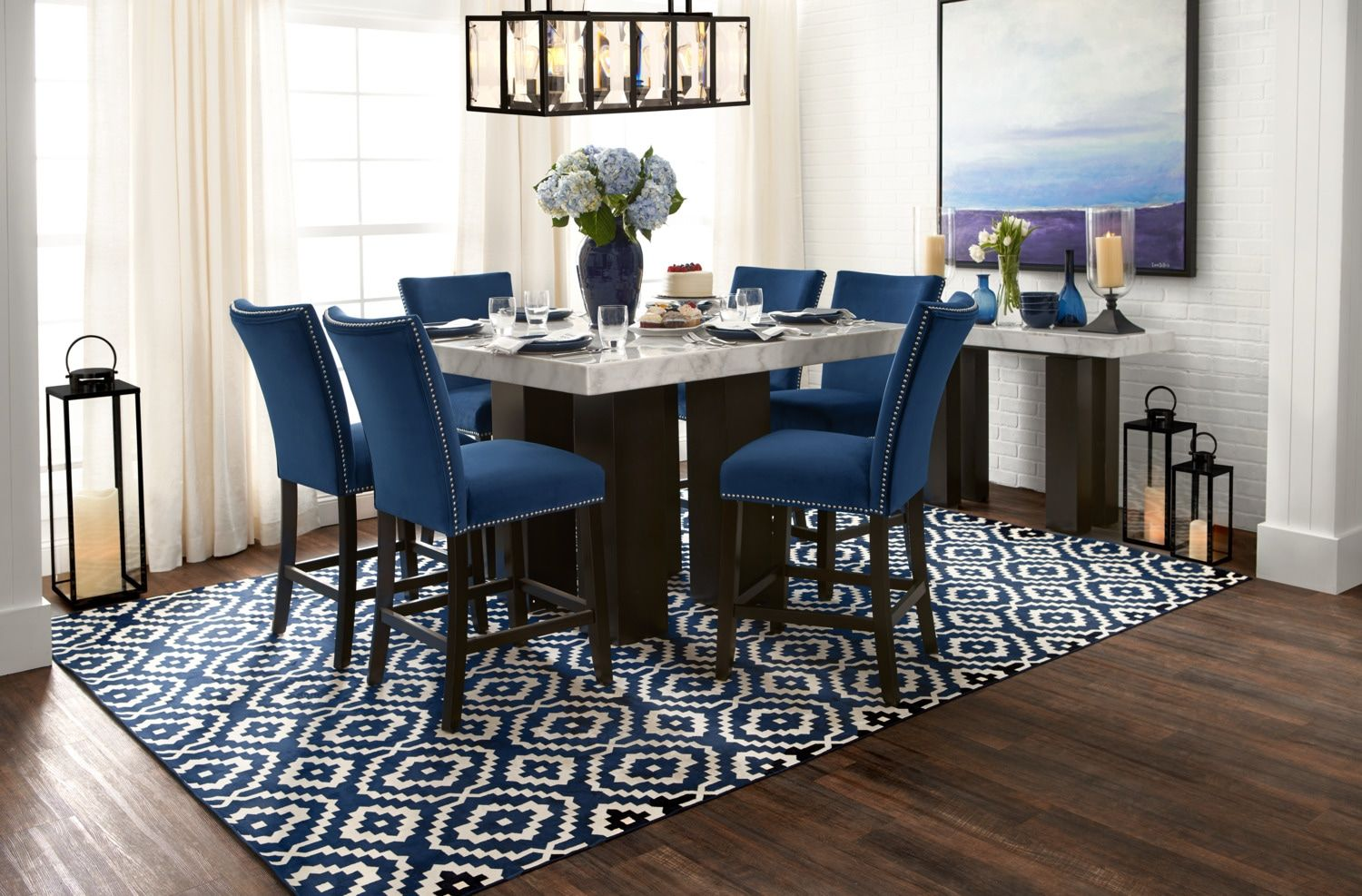 Artemis Counter Height Dining Table Marble Value City