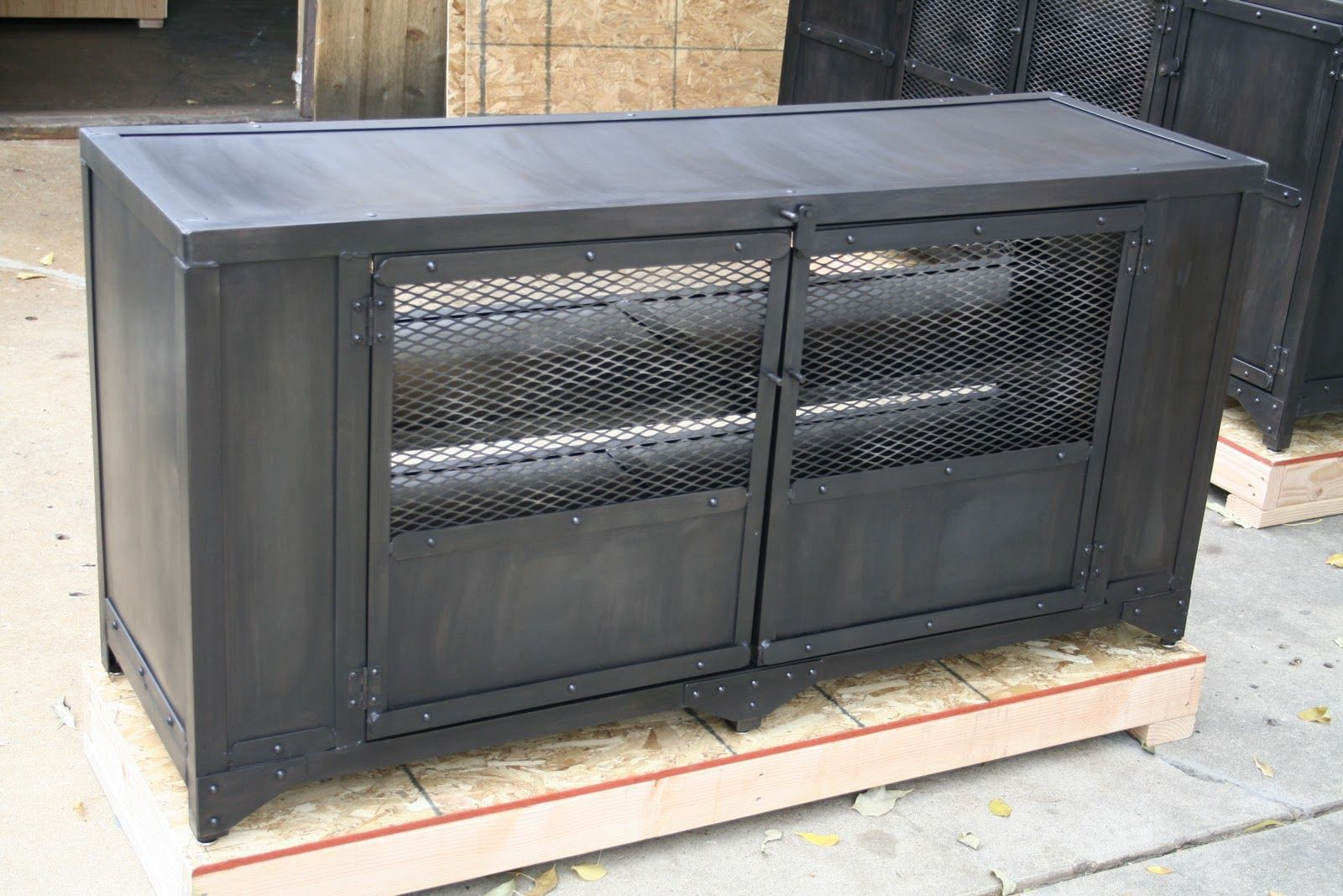 Impressive Metal Media Cabinet 2 Cabinets Furniture