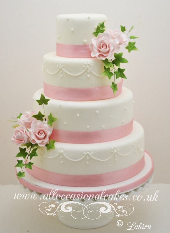 white and pink rose wedding cake pink with sugar piping wedding cake themed 27216