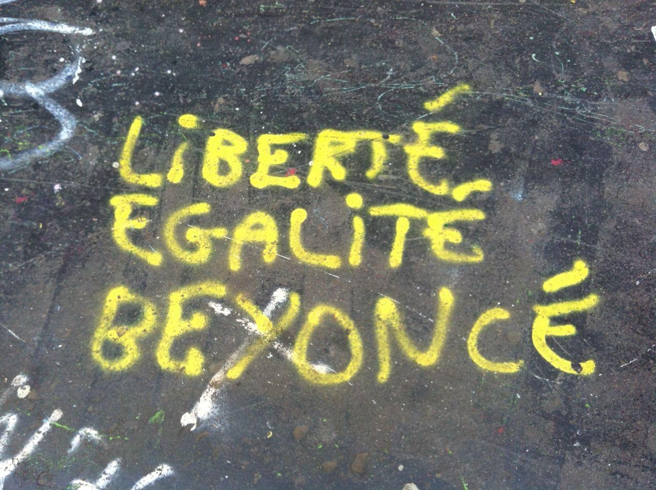 Beyoncé Présidente ! Près du canal. Merci Danaé
