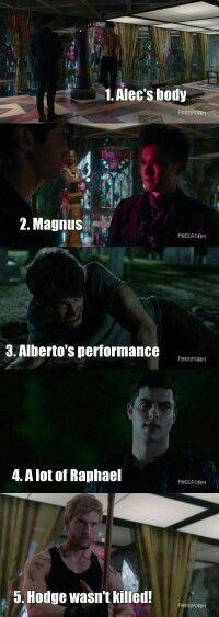 Season 1 Episode 8: Alec, Magnus, Simon, Raphael, Hodge